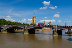 Lambeth Bridge and Westminster in the Summer Royalty Free Stock Photography