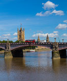 Lambeth Bridge and Westminster in the Summer Royalty Free Stock Photos