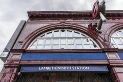 Lambeth north London underground. Lambeth North underground station in London, UK Stock Images