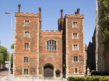 Lambeth Palace, London. Lambeth Palace in London, official residence of the Archbishop of Canterbury - head of the Anglican Communion.  One of the oldest Stock Photo