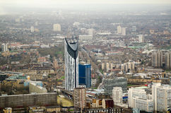 Lambeth with Strata Tower. Aerial view over the central London borough of Lambeth with the striped Strata Tower dominating the skyline Royalty Free Stock Photo