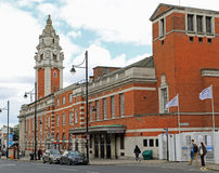 Lambeth Town Hall. Formed in 1900, the Metropolitan Borough of Lambeth soon found its Vestry Hall, Kennington premises too cramped and, after some opposition Stock Image