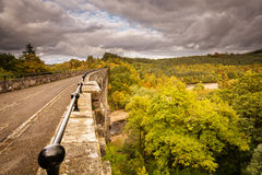 Lambley高架桥在秋天 库存图片