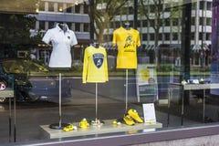Lamborghini商店在杜塞尔多夫,德国 免版税库存照片