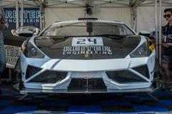 Lamborghini在电路de巴塞罗那,卡塔龙尼亚,西班牙的Gallardo GT3 库存照片