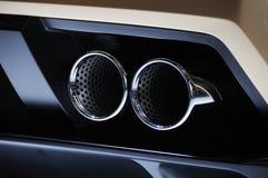 Lamborghini汽车排气管 免版税图库摄影