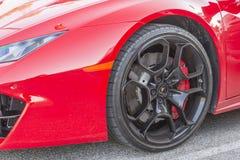 Lamborghini轮子 库存图片