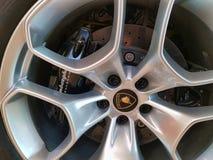 Lamborghini轮子 库存照片