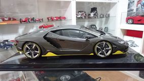 Lamborghini πρότυπο αυτοκίνητο κλίμακας άνθρακα Centenario πλήρες Στοκ εικόνα με δικαίωμα ελεύθερης χρήσης