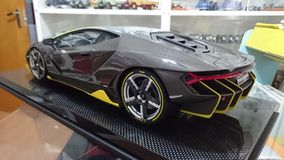 Lamborghini πρότυπο αυτοκίνητο κλίμακας άνθρακα Centenario πλήρες Στοκ Εικόνα