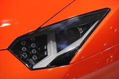 Lamborghini汽车车灯 免版税库存照片