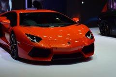 Lamborghini alaranjado Imagem de Stock