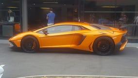 Lamborghini alaranjado Imagens de Stock Royalty Free