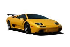 Lamborghini amarillo Imagen de archivo libre de regalías