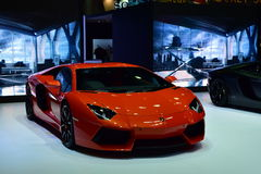Lamborghini anaranjado Fotografía de archivo libre de regalías