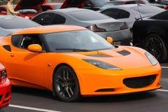 Lamborghini arancio sportscar Fotografia Stock