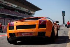 Lamborghini arancione immagine stock