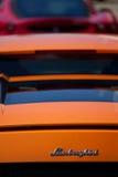 Lamborghini arancione Fotografie Stock