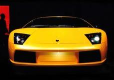 Lamborghini Auto-Leistung-Notwendigkeit an der Drehzahl Stockfotografie