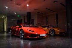 Lamborghini-auto's voor verkoop Stock Foto's