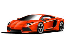 Lamborghini Avantador illustration Royalty Free Stock Image