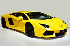 The Lamborghini Aventador car Stock Photo