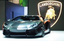 Lamborghini Aventador en el 36.o salón del automóvil internacional 2015 de Bangkok Fotos de archivo