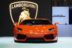 Lamborghini Aventador en el 36.o salón del automóvil internacional 2015 de Bangkok Fotografía de archivo libre de regalías