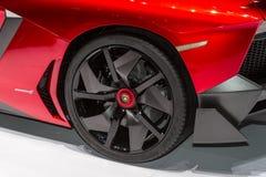Lamborghini Aventador in Geneve Auto Salon 2012 Stock Image