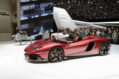 Lamborghini Aventador J - Salon de l'Automobile de Genève 2012 Image stock