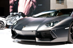 Lamborghini Aventador LP 700-4 on IAA 2011 Stock Photos