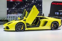 Lamborghini Aventador LP 700-4 ha mostrato in Tailandia il trentasettesimo salone dell'automobile internazionale di Bangkok fotografia stock libera da diritti