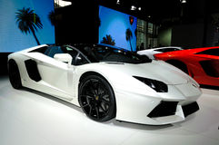 LAMBORGHINI Aventador LP700-4 Roadster supercar Royalty Free Stock Photography