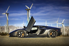 Lamborghini Aventador in Palm Springs Royalty Free Stock Photos