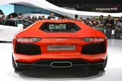 Lamborghini Aventador Rückseite Lizenzfreies Stockfoto