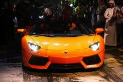 Lamborghini Aventador Roadster stock afbeelding