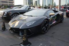 Lamborghini Aventador su esposizione immagini stock libere da diritti
