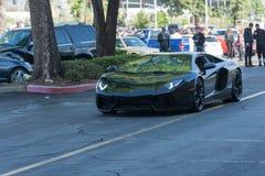 Lamborghini Aventador su esposizione immagini stock