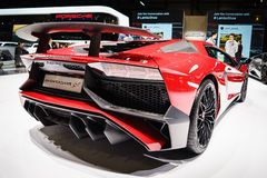 Lamborghini Aventador SV, Motor Show Geneve 2015. Stock Photos