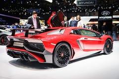 Lamborghini Aventador SV, Motor Show Geneve 2015. Stock Photography