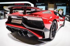 Lamborghini Aventador SV, Salon de l'Automobile Geneve 2015 photos stock