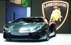 Lamborghini Aventador at the 36th Bangkok International Motor Show 2015 Stock Photos