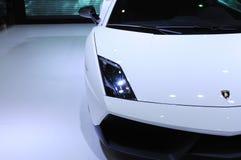 Lamborghini bianco, Gallardo LP 570-4 Superleggera Fotografie Stock
