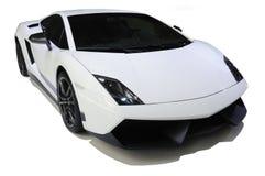 Lamborghini bianco, Gallardo LP 570-4 Superleggera fotografia stock libera da diritti