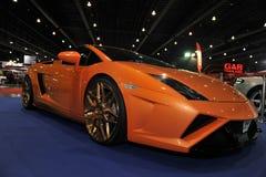 Lamborghini bil på den 3rd bangkok internationella autosalonen 2015 på Juni 27, 2015 i Bangkok, Thailand Arkivfoto