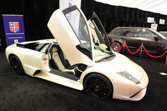 Salon automobile : Lamborghini Murcielago Photos stock