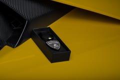 Lamborghini brannte Waren ein Lizenzfreies Stockfoto