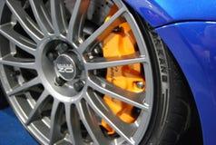 Lamborghini bromsar Fotografering för Bildbyråer