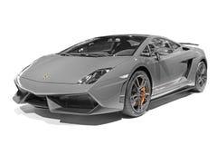 A Lamborghini car. A gray Lamborghini car which type is gallardo LP570-4 superleggera Royalty Free Stock Photo