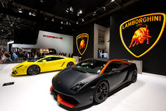 Lamborghini cars Paris Motor Show 2012 Royalty Free Stock Photography